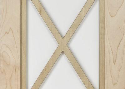 Glass Door with X