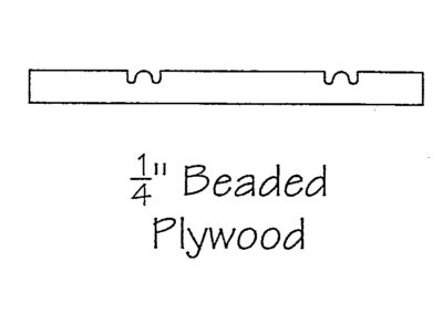 1/4″ Beaded Plywood