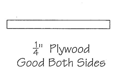 1/4″ Plywood