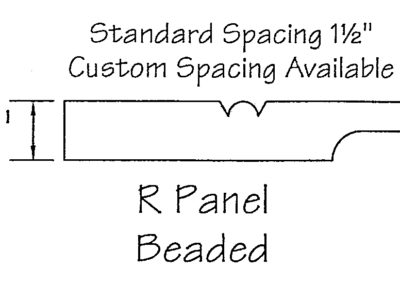 1/2″ R Panel Beaded