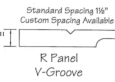 1/2″ R Panel V-Groove